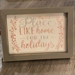 No Place Like Home For The Holidays Bling Framed